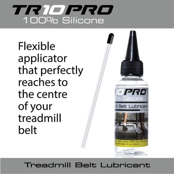 Flexible applicator that perfectly reaches to the centre of your treadmill belt - treadmill belt lubricator oil 50ml