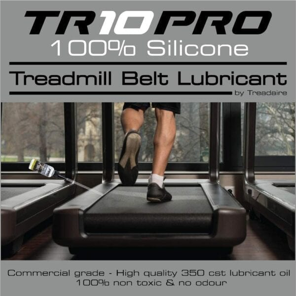 TR10 Pro 100% Silicone Oil Treadmill Belt Lubricator by Treadaire, Commercial Grade, High Quality, 350 cst lubricant oil, 100% non-toxic and non-odour 50ml