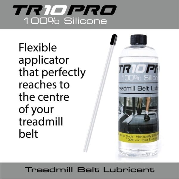 Flexible applicator that perfectly reaches to the centre of your treadmill belt - treadmill belt lubricator oil 750ml