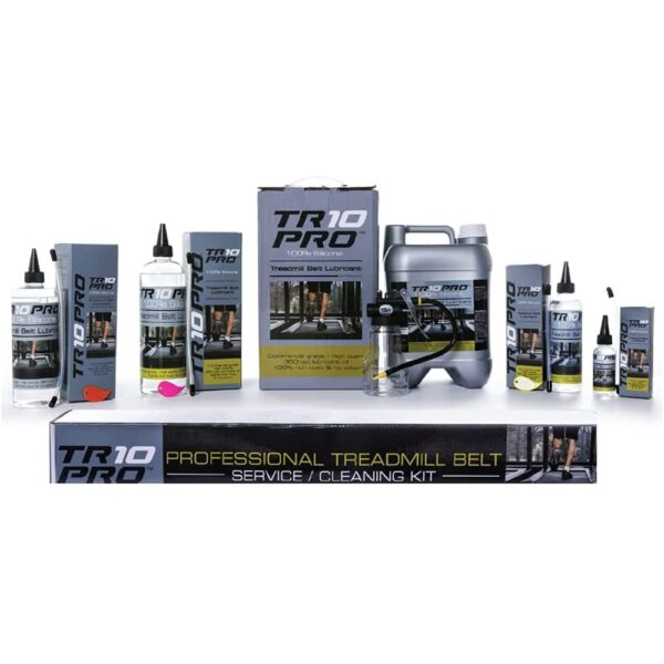 The Full Treadmill Lubricant Maintenance Universal Kit - No Disassembly Required   Skip walking thru the store and sprint thru your project. We've included the 350cst lube, precision applicator and cleaning tool you need to maintain your running machine, rowing machine AND all your other gym equipment without time-wasting hassles.